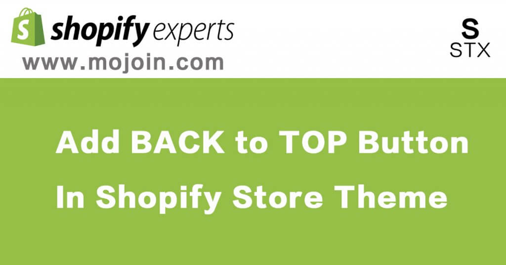 back to top in shopify store