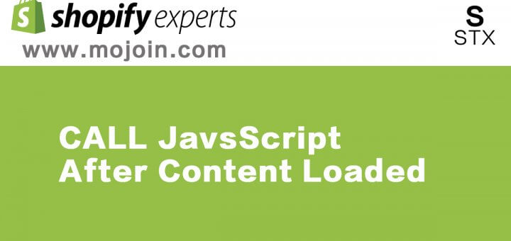 call js after content loaded