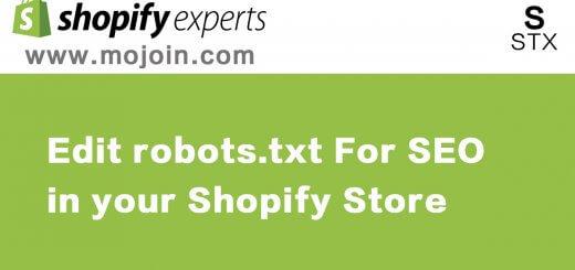 Edit robots.txt file for SEO